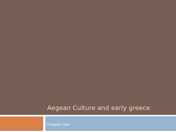 Arts & Humanities Aegean, Cycladic, and Ancient Greek Power point