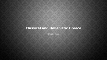 Arts & Humanities Classical and Hellenistic Greece - Power point