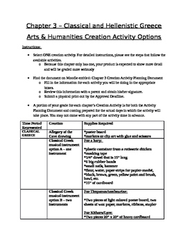 Arts & Humanities Classical and Hellenistic Greece - creation activities