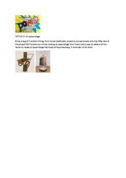 Arts & Humanities Creation Activity Op Art, Pop Art, & Assemblages