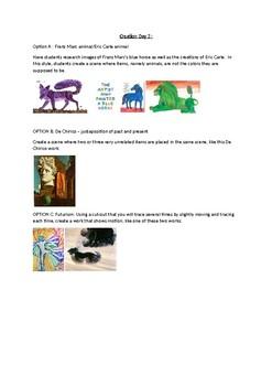 Arts & Humanities De Chirico, Futurism, & Marc Creation activity