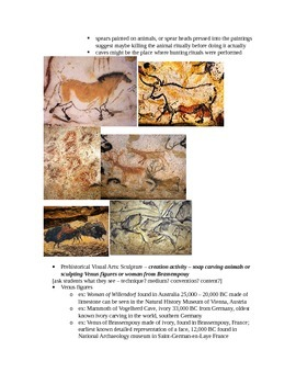 Arts & Humanities Prehistory, Mesopotamia, Egypt - teacher guided lecture notes