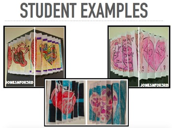 """Arts Integrated- Accordion Art: Figurative and Literal meanings of """"Heart"""" CCA"""