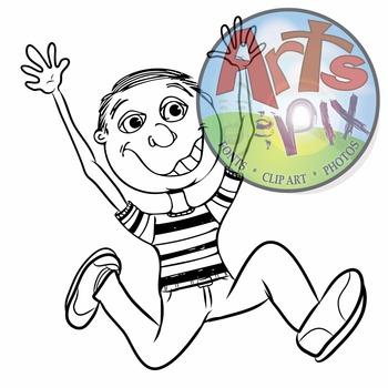 "ClipArt - ""Boy Running"" - PNG Clipart - Arts & Pix"