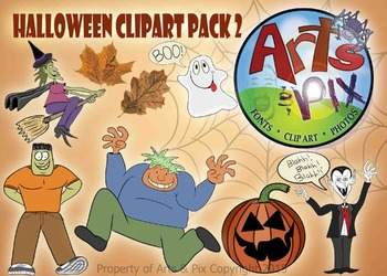 """CLIPART - """"Halloween"""" Themed ClipArt Pack #2 - color PNG"""