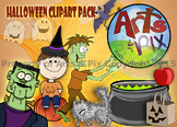 """CLIPART - """"Halloween"""" Themed ClipArt Pack - color PNG"""