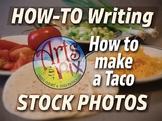 "Stock Photos - ""How To Writing: How to make a Taco"" photo BUNDLE - Arts & Pix"