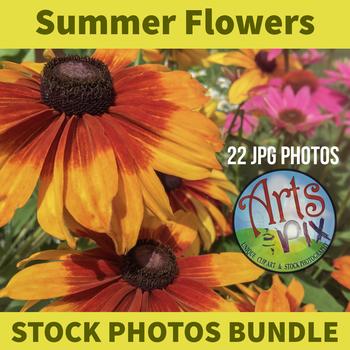 "! ""Summer Flowers"" - Stock Photos - photo pack bundle"