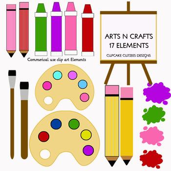 Arts and Crafts Digital Clip Art Digital Graphics -Commercial Use