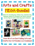 Arts and Crafts MEGA Bundle  with 40 Fun Art/Crafts for All Year Long!
