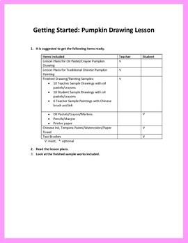 Arts and Crafts: Pumpkin Drawing