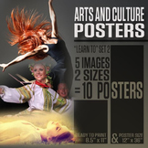 """Arts and Culture Posters (""""Learn To"""" Series 2)"""
