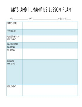 lesson plans template elementary