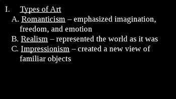 Arts in the Industrial Age PowerPoint