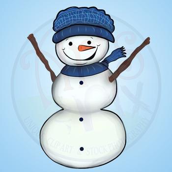 """CLIPART - """"Winter Snow People"""" - Snowman - PNG clipart BUNDLE - Arts & Pix"""