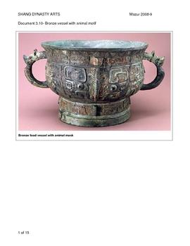Arts of the Shang Dynasty Materials