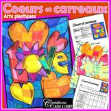 Arts plastiques: Coeurs et carreaux pour la St-Valentin, plan de cours, français