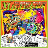 Printemps: Activité d'arts plastiques : Microbes, hive