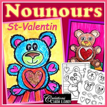 St-Valentin: Arts plastiques, Nounours de St-Valentin