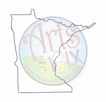 """CLIPART - """"Midwest Region States with Capitals"""" - PNG ClipArt - MAPS"""