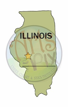 "CLIPART - ""Midwest Region States with Capitals"" - PNG ClipArt - MAPS"