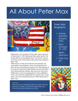 Peter Max Sketchbook Prompt