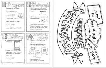 Artsonia Station: instructional display and handout