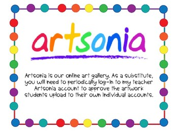 Artsonia for Long-Term Subs