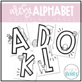 Artsy Alphabet Coloring Pages!