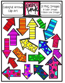 Artsy Arrows Clip Art Pack (FREEBIE!)