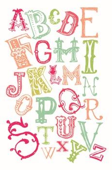 Artsy Carnival Fun Classroom Alphabet Poster