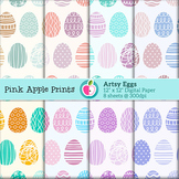Artsy Easter Eggs Digital Papers Set: Graphics for Teachers
