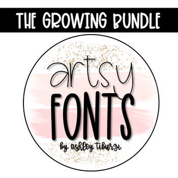 Artsy Fonts The Growing Bundle