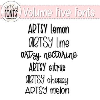 Artsy Fonts: Volume Five