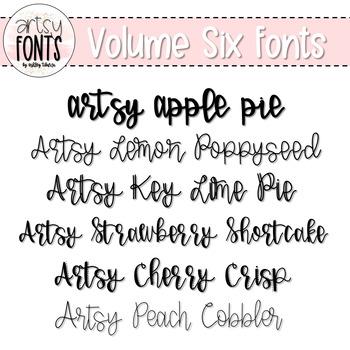 Artsy Fonts: Volume Six