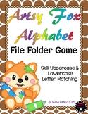 Artsy Fox Alphabet ABC File Folder Game Uppercase and Lowercase Match