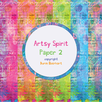 Artsy Spirit 2 Printable Digital Paper