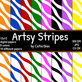 Artsy Stripes - 16 Digital Papers