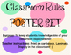 Jubilee's Junction - Classroom RULES / Behavior Poster Set/6 POSTERS