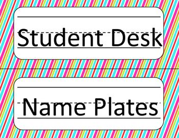 Jubilee's Junction - Student Desk Name Plates