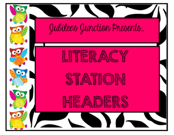 Jubilee's Junction - 5 Centers Literacy Station Poster Set