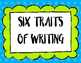 Jubilee's Junction - 6 (Six) Traits of Writing Poster Set