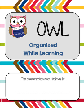 Jubilee's Junction - OWL Organized While Learning Binder Cover