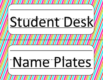 Jubilee's Junction - Student Desk Name Plate *OWLS* Vivid Patterns/Colors SET