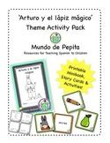 Arturo y el lápiz mágico Short Printable Story & Activity Pack Spanish Resources