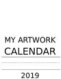 Artwork Calendar Template (Year 2019)