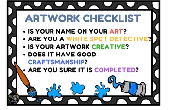Artwork Checklist