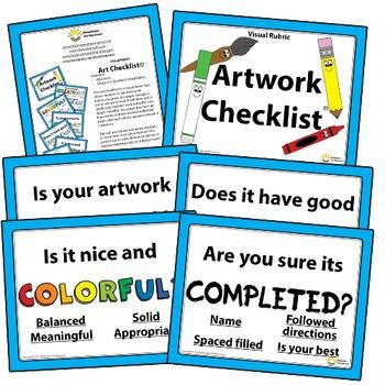 Mini Printable Poster - Artwork Checklist Visual Arts Rubr