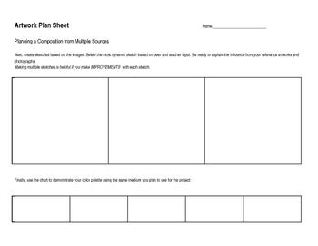 Artwork Plan Sheet