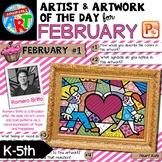 Artwork of The Day for K-5- FEBRUARY